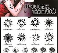 1pc pegatinas rueda mágica sol tatuaje tatuajes temporales