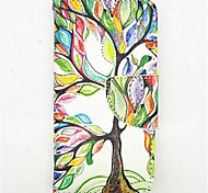 The Tree Of Life Pattern PU Leather Full Body Case with Card Slot and Stand for iPhone 5C
