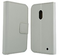 Wallet Style Solid Color PU Leather Full Body Protection Cover  for Nokia Lumia 620