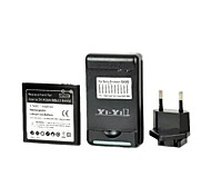 YI-YI™ Replacement 2500mAh Battery with USB US Plug Battery Charger and EU Plug for Sony Xperia ZR/ M36h/ C5502/ BA950
