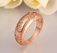 Fashion Women Rose Gold Rose Gold-Plated Zircon Fashion Rings(Rose Gold)(1Pcs)