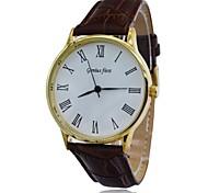 Men's Watch 30M Waterproof Leather Strap Quartz Wrist Watch