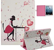 Office Lady and Butterfly Inlaid Shiny Glitter Diamond PU Cases with Stand for iPad Air 2