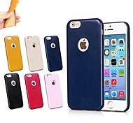 Exclusive Design Good Quality Leather Thick Shockproof Soft Back Cover for iPhone 6 Plus (Assorted Color)
