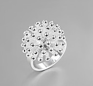 "2016 Fashion Luxury ""Fireworks"" Square Sterling Silver Band Ring For Women"