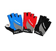 FJQXZ Unisex Cycling Gloves Fingerless Microfiber Leather Gel Plam Lycra Breathable Short Finger