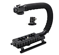 C Shape Video Stabilizer Handle Mount Kit (C Shape Bracket, GOPRO Adapter)