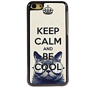 Keep Calm and Be Cool Design  Aluminum Case for iPhone 5C