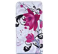 Purple Flower Pattern Full Body Case for  LG Optimus L5 II/E460