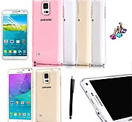 KARZEA™ 0.05mm Ultrathin Transparent TPU Back Cover Case With Screen Protector+Stylusfor Samsung Galaxy Note4 N9100