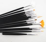 15pcs pinceau nail art réglé avec 5pcs outil parsemant
