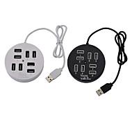 480Mbps USB2.0 velocidade oi 8Port arredondado hub USB 2.0 / 1.1 é (cores sortidas) universais