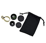 0.67X Wide+Macro and 180°Fish Eye Lens Auxiliary Universal Clip Lens for Samsung and other Mobile Phone(2Lens)