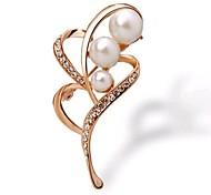 Pearl Diamond Retro Fashion  Brooch