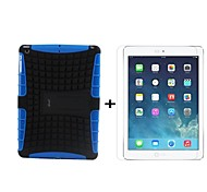 Hybrid TPU+PC Kick Stand Case Full Body Case and HD LCD Screen Protector for iPad Air (Assorted Colors)