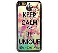 Personalized Phone Case - BE UNIQUE Design Metal Case for iPhone 5C Metal Case for iPhone 5C