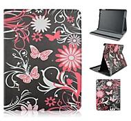 moda pintados borboletas esvoaçantes pu proteger coldre com suporte para iPad 2/3/4