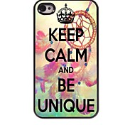 Keep Calm and Be Unique Design Aluminum Case for iPhone 4/4S