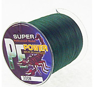 300M / 330 Yards PE Braided Line / Dyneema / Superline Fishing Line Dark Green 28LB / 18LB / 10LB / 15LB / 12LB / 22LB