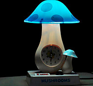 25W LED Lovely Great and Small Mushroom with Clock Small Table Lamp 220V (Assorted Colors)