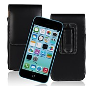 Genuine PU Cowhide Leather Flip Wallet Vertical Case Belt Clip Pouch Cover Jacket for iPhone 5C