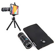 4X-12X Zoom Plastic Shell Magnetic Telephoto Camera Lens+Tripod for Samsung Note 4