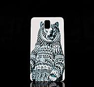 caso duro del patrón de oso de pie para Samsung Galaxy Note 3