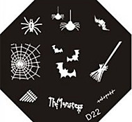 Nail Art Stamp штамповка изображения шаблон пластина д серии № 22