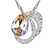 Mild Butterfly Elegant Short Necklace Plated With 18K True Platinum Rose Crystallized Austrian Crystal Stones