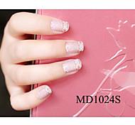 14PCS Fashion Glitter Powder Nail Art Stickers MD Series NO.1024S