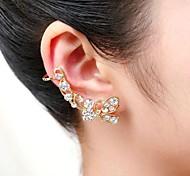 moda cheia de algemas de orelha bowknot cristal (1 pc)
