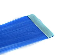 Long Straight Tapes Synthetic Extension 2 Pcs Blue
