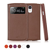 GGMM® Window-S4 Genuine Leather Cover Protective Case with View Window Auto-Sleep for Samsung Galaxy S4(Assorted Colors)