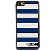 Personalized Case Stripe Design Metal Case for iPhone 5C