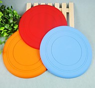 Dogs / Cats Toys Flying Disc Silicone Red / Blue / Yellow