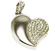 Amotaios AMO-UG123(16G) 16GB USB 2.0 Flash Pen Drive Necklace/Heart/Crystal