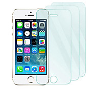 3Pack 0.33mm Tempered Glass Screen Protector with Microfiber Cloth  for iPhone 5 / 5S /5C