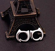 925 Sterling Silver Simple Cat Earrings
