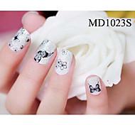 14PCS Fashion Glitter Powder Nail Art Stickers MD Series NO.1023S