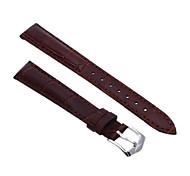 14mm Unisex Genuine Leather Watch Band Strap Bracelet Dark Brown Fashion