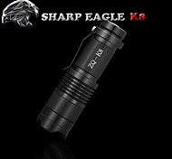 LED Flashlights/Torch LED Mode 500LM LumensWaterproof / Rechargeable / Impact Resistant / Nonslip grip / Strike Bezel / Clip / Small Size