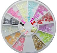 Supernova Sale 3d Bows Nail Art Decorations Acrylic Tips 12 Color Bow Tie Decoration Manicure Wheel Nail Supplies