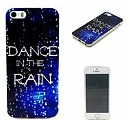 danza en el estuche blando guía lluvia patrón inspirado 0.6mm ultra-delgada para Apple iPhone 5 / 5s