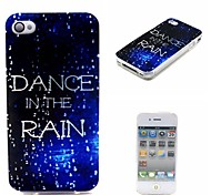 Dance in the Rain Guide Inspirational Pattern Ultra-Thin Case for Apple iPhone 4/4S