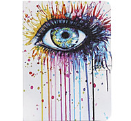 Color Eyes Pattern PU Leather Full Body Case for Samsung Galaxy Tab 3 10.1 P5200