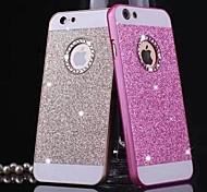 caso de la cubierta del brillo sólido bling de lujo con el agujero para el iphone 6 (colores surtidos)