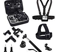 toz gp2-003k 6-en-1 polyvalent kit de montage pour Hero GoPro 4 / 3+ / 3/2