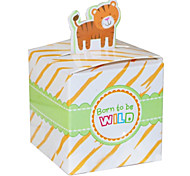 10 PCS DIY Tiger Candy Boxes Mini Jungle Animal Gift Wrapping for Wedding Party