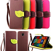 KARZEA™ Leaf Snap PU Full Body Case with TPU Back Cover Stand for Motorola MOTO X+1 (Assorted Colors)