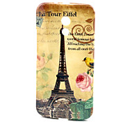 Eiffel Tower Pattern TPU Soft  Cover for Motorola Moto G2